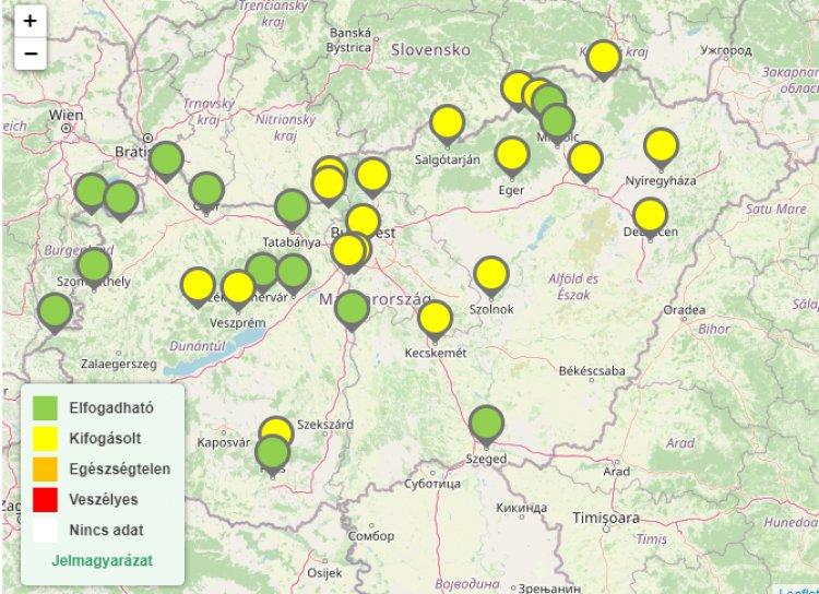 Sok településen ismét magas az ózonkoncentráció - Nyíregyházán is