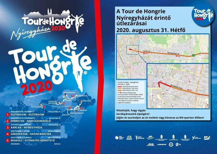 Tour de Hongrie – Ideiglenes útlezárások augusztus 30-án és 31-én Nyíregyházán