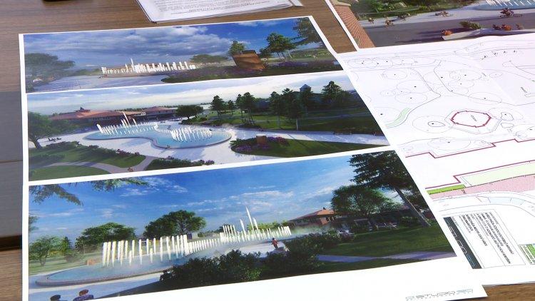 Új attrakció Sóstón – Egyedülálló szökőkút, növekvő zöldfelület és több fa a központban