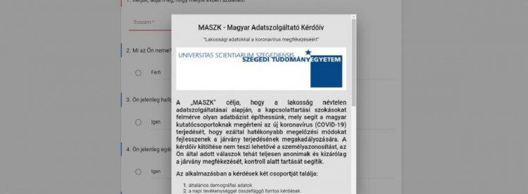 ITM: még fontosabb a vírus terjedését vizsgáló kérdőív rendszeres kitöltése