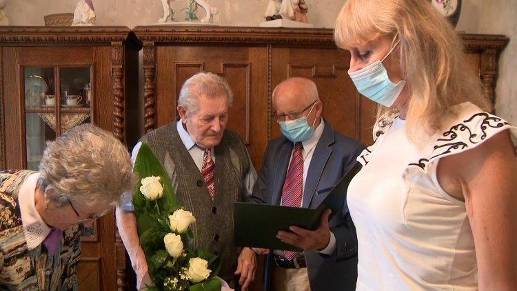 Városunk szépkorúját, a 90 éves Dankó Istvánt köszöntötték