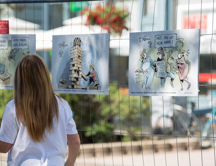 Iserlohni karikatúrák a vírushelyzetről a VIDOR Fesztiválon