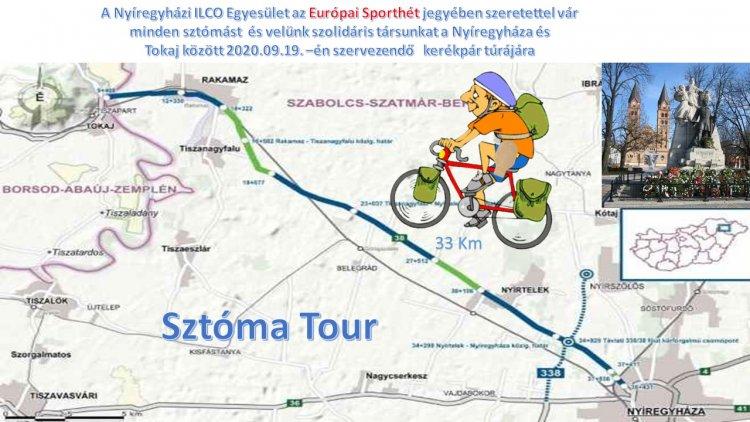 """Nyíregyháza-Tokaj-Nyíregyháza kerékpártúra – """"Sztóma-Tour"""" az Európai Sporthét keretében"""