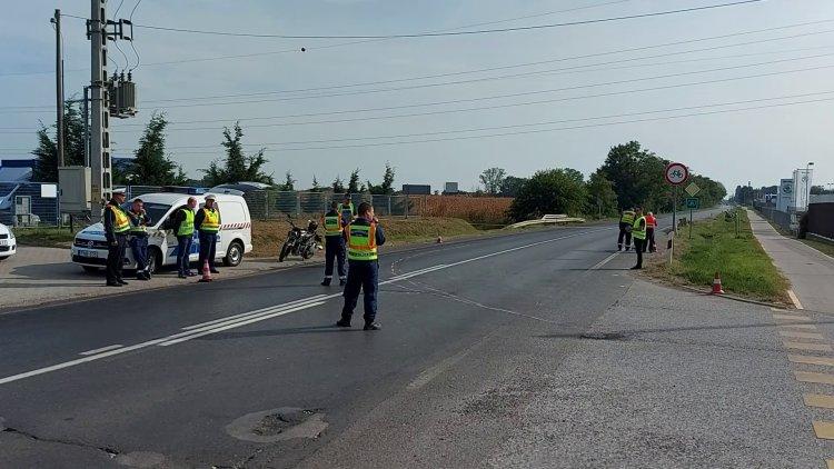 Júliusban történt halálos baleset rekonstrukcióját végezték vasárnap a 36-os főútvonalon
