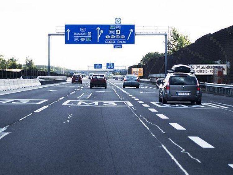Forgalomkorlátozás lesz az M3-as autópálya Budapest-Hatvan vasút feletti hídján
