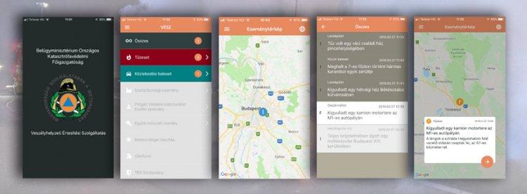 VÉSZ – Új funkciókkal bővült a katasztrófavédelem applikációja