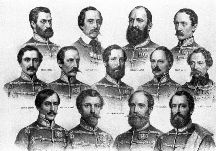 1849. október 6-án végezték ki Aradon az 1848–49-es szabadságharc tizenhárom főtisztjét