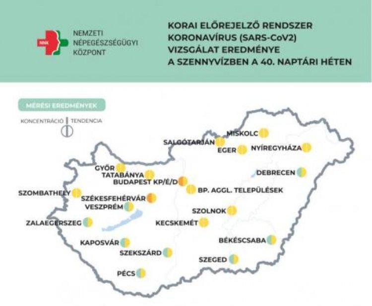 Stagnál a vizsgált településeken a szennyvízben a koronavírus örökítőanyaga