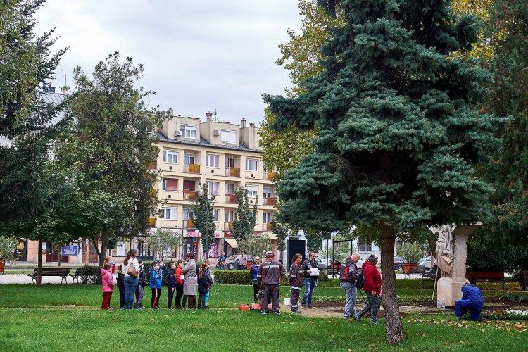 NYÍRVV: a cél, hogy minél szebb, virágosabb legyen a belváros – Diákok is segítettek!