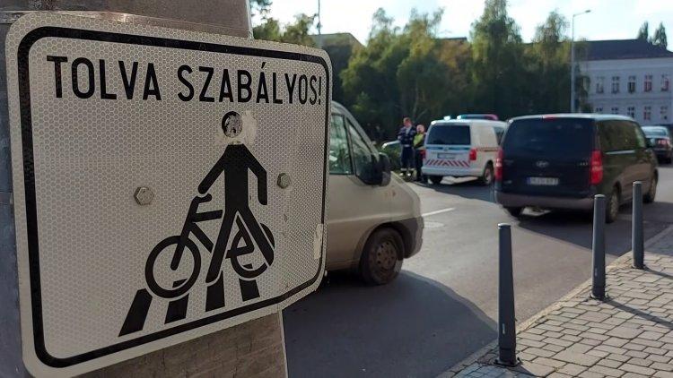 Szabálytalan kerékpárost gázoltak az Országzászló téri gyalogátkelőhelyen