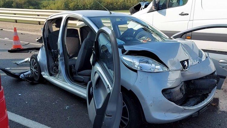Útjavítási munkálatok közben történt baleset a Debreceni úti felüljárón
