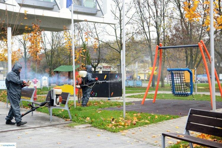 Kiemelt feladat! Városszerte fertőtlenítik a játszótereket Nyíregyházán!