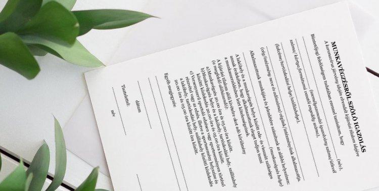 Kijárási tilalom alatti munkavégzésről szóló igazolás – Letölthető igazolás minta