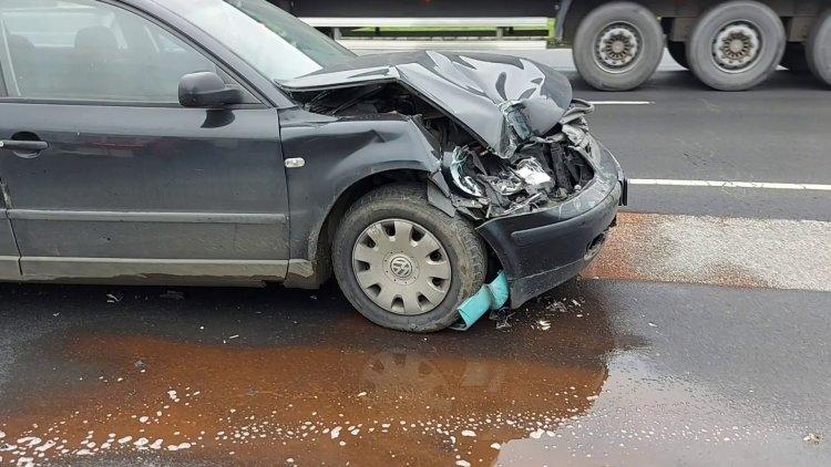 Kisteherautóba szaladt egy személyautó csütörtök délelőtt a Debreceni úton