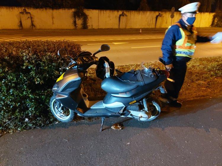 Elvesztette uralmát jármű felett egy robogós, 8 napon túl gyógyuló sérüléseket szenvedett