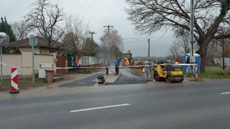 Befejeződtek az útfelújítási munkálatok a Csernyikbokori út és Szegély utcánál