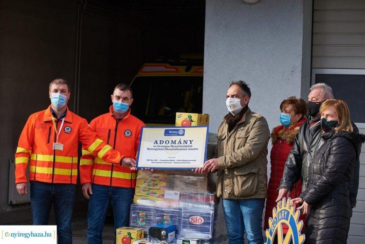 Közel 500 ezer forintnyi adomány érkezett a nyíregyházi mentőállomásra