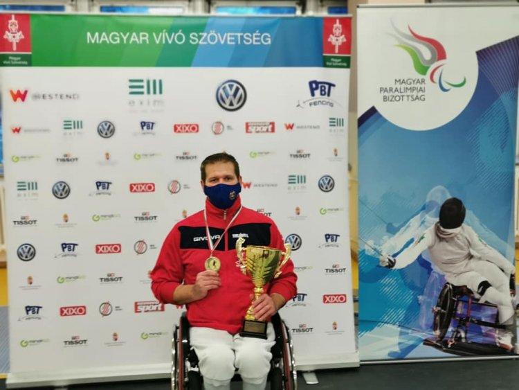 Bajnoki cím - Tarjányi István aranyérmes lett az OB-n párbajtőrben