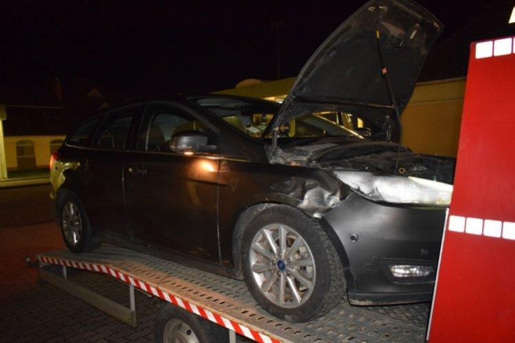 Körözött autó a csengersimai közúti határátkelőhelyen