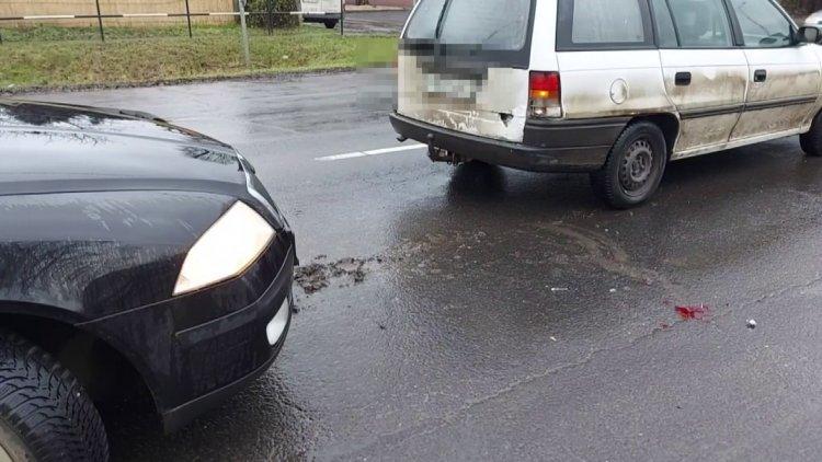Ráfutásos baleset történt a Tiszavasvári úton, rendőrök intézkedtek a helyszínen