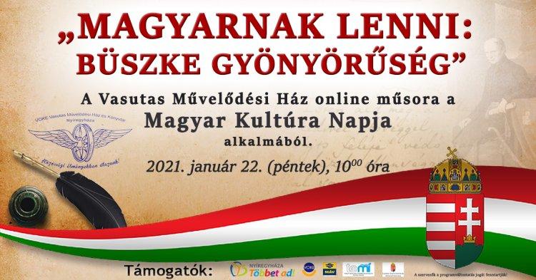 Online ünnepli a Magyar Kultúra Napját a Vasutas Művelődési Ház
