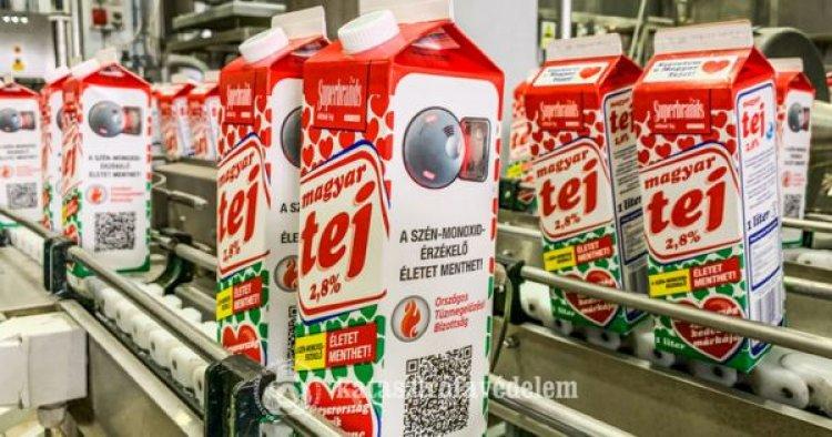 Pár napja tejes dobozon is kampányol az Országos Tűzmegelőzési Bizottság