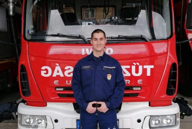 Keleten a legfiatalabb – Matyi Richárd 18 évesen került a helyi Tűzoltó-parancsnokságra