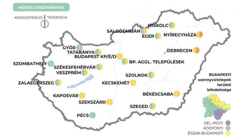 Két településen ismét emelkedik a szennyvízben a koronavírus koncentrációja