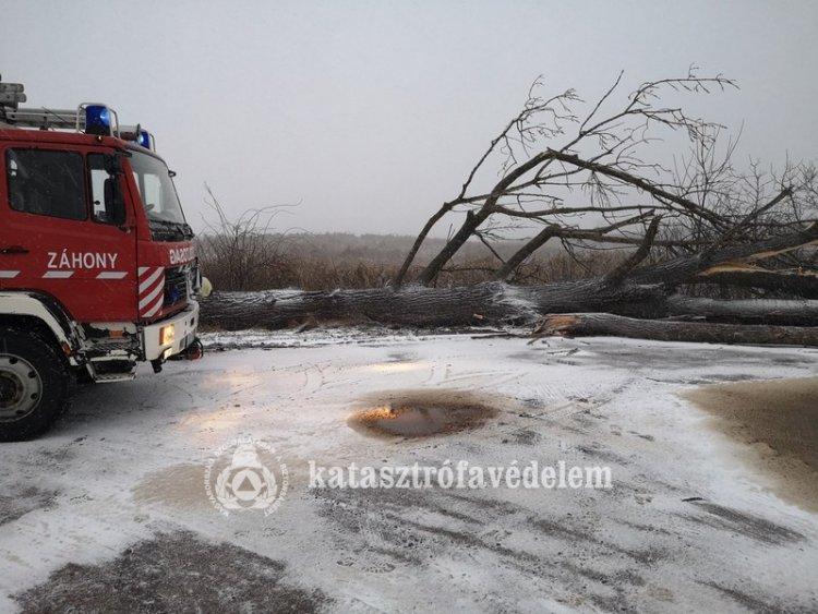 Huszonnyolc viharkárral kapcsolatos jelzés érkezett a megyei katasztrófavédelemhez tegnap