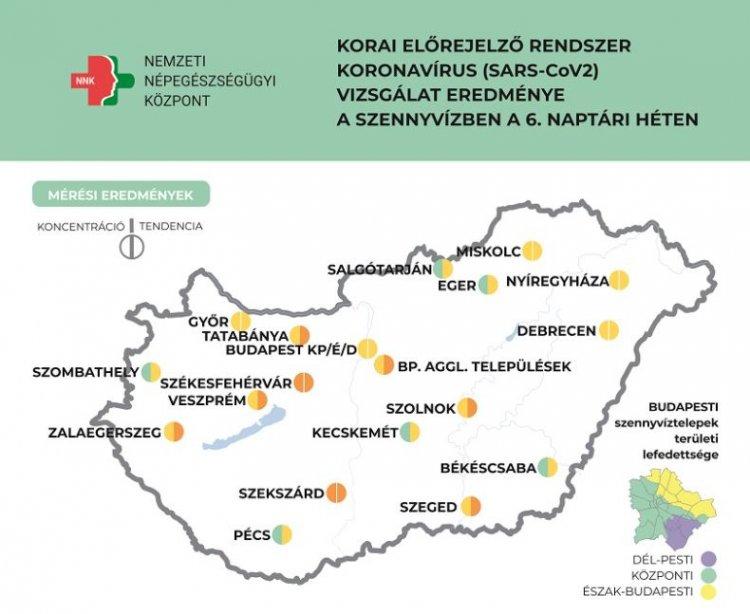 Több település szennyvizében továbbra is emelkedik a koronavírus örökítőanyagának koncentr