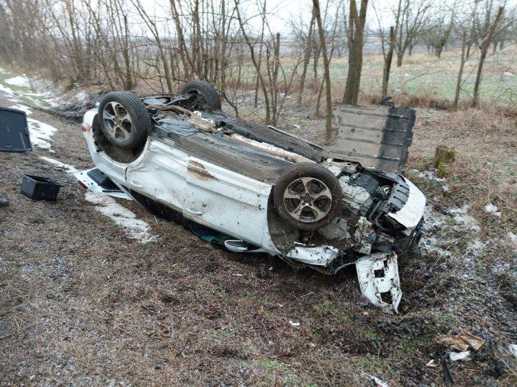 Szarvas rohant egy autó oldalának, a sofőrt kórházba szállították