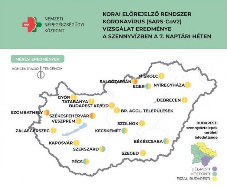 A legtöbb településen stagnál a szennyvíz koronavírus koncentrációja