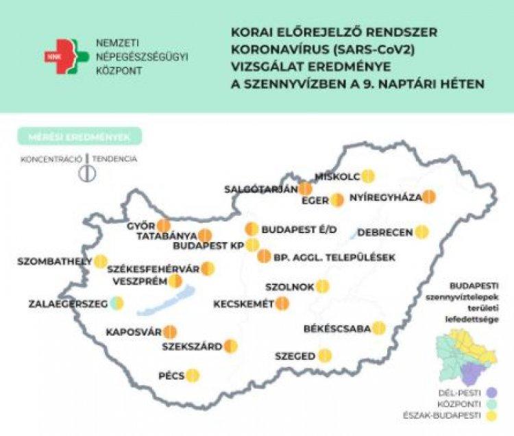 Számos településen tovább emelkedett a szennyvízminták koronavírus koncentrációja