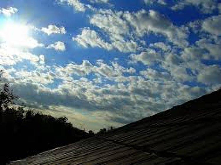Reggel besüt a nap az ablakon, délután jönnek a felhők