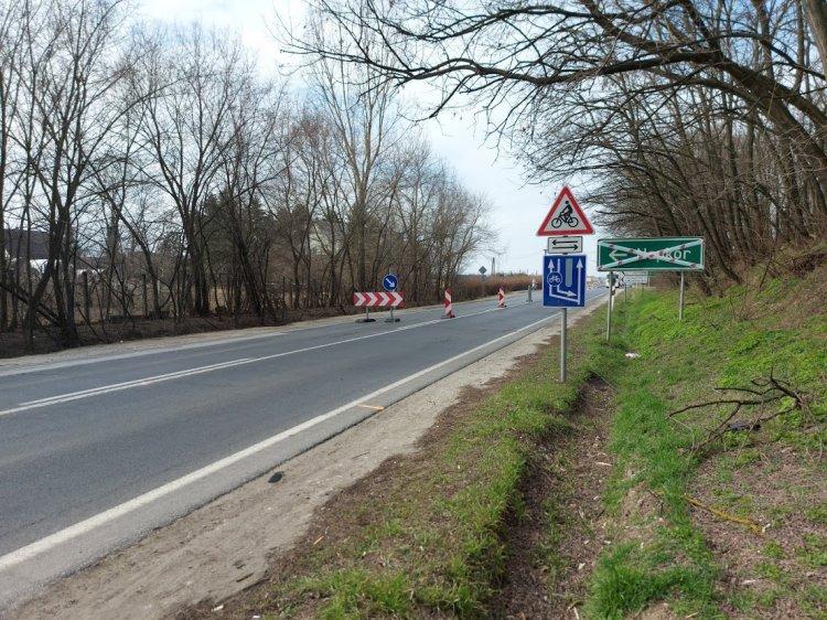 A Magyar Közút megkezdte a 41-es főútvonalon a napkori körforgalom kialakítását