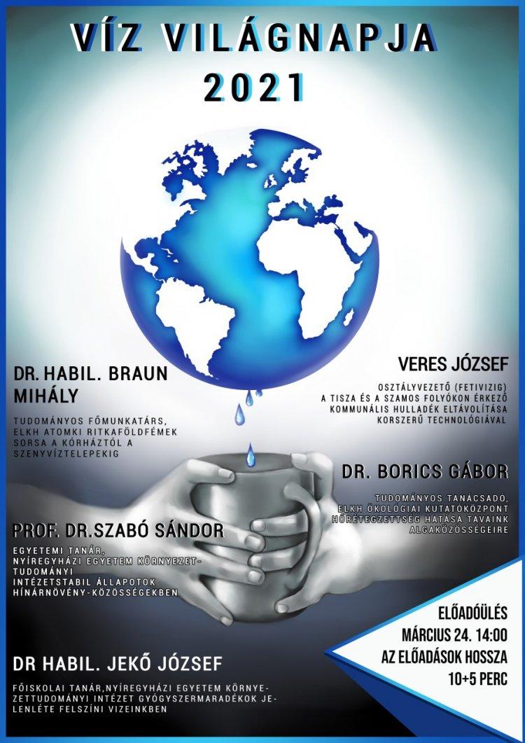 Online előadások a víz világnapja alkalmából