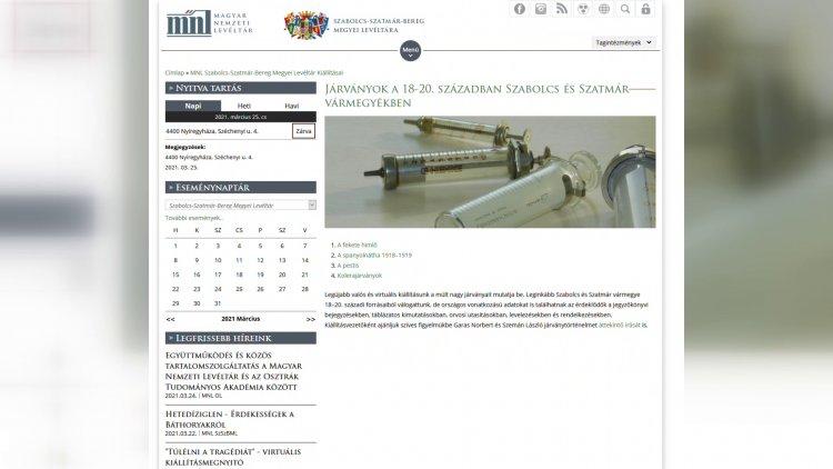 Világjárványok a múltban – online kiállítás a levéltárban: pestis, spanyolnátha, Covid