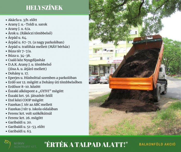 Idén is biztosít balkonföldet a város lakóinak a NYÍRVV Nonprofit Kft.