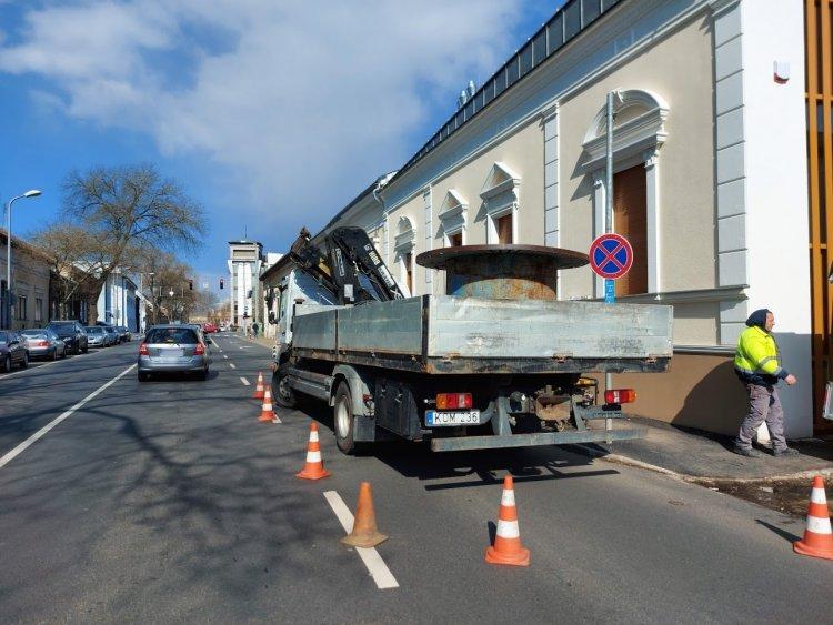 Részleges forgalomkorlátozás: a Bocskai utcán dolgoznak az E.ON szakemberei