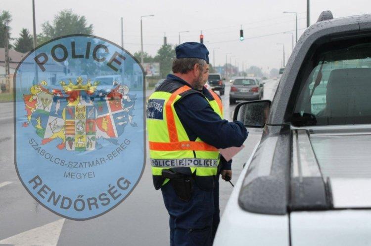 Közlekedésbiztonsági ellenőrzést tartottak Szabolcs-Szatmár-Bereg megyében