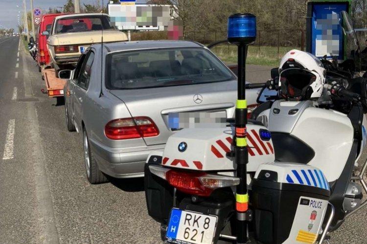 Kiszűrték a forgalomból a motoros rendőrök Nyíregyházán