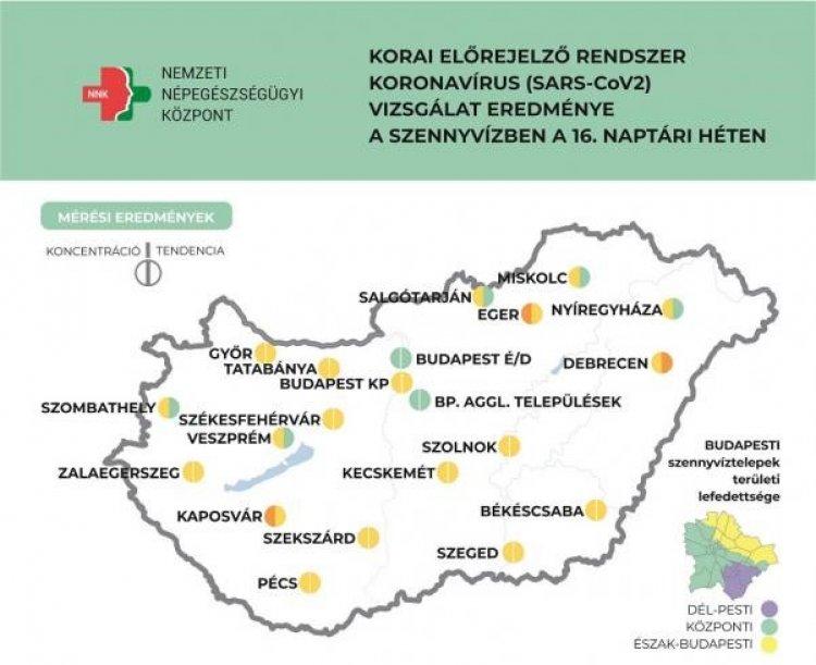NNK: országos átlagban csökkenő tendenciát mutat a szennyvíz koronavírus koncentrációja