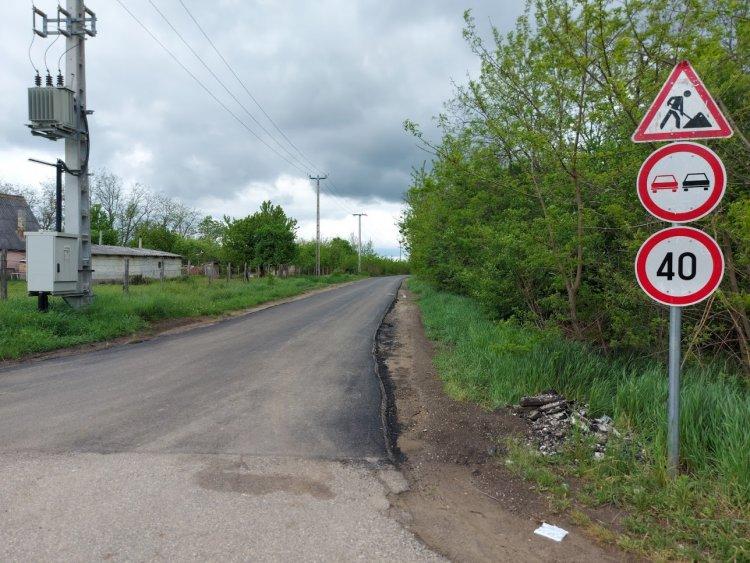 Elkészült a Rókabokori út, jelenleg gázvezeték fektetése zajlik az útszakaszon