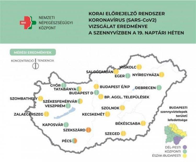 NNK: országosan további koronavírus-koncentráció csökkenés jellemzi a szennyvizet