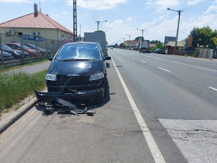 Jelentős anyagi kárral járó baleset történt a Debreceni úton