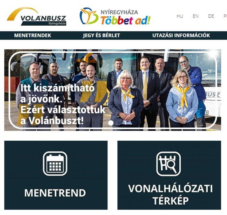 Új, mobiltelefonról is könnyedén böngészhető volánbuszos honlap nyíregyháziaknak