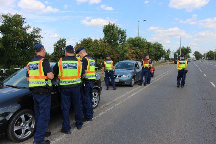Közlekedési és körözési akció Nyíregyházán