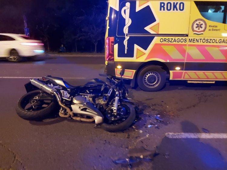 Súlyos kimenetelű motoros balesethez riasztották a mentőket csütörtök este
