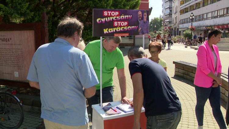 A Stop Gyurcsány! Stop Karácsony! petícióra Nyíregyházán is várja a Fidesz az aláírásokat