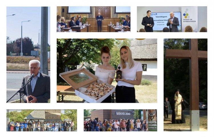 Hírösszefoglaló: Tirpák Fesztivál, nemzetközi találkozók, új körforgalom és keresztavató